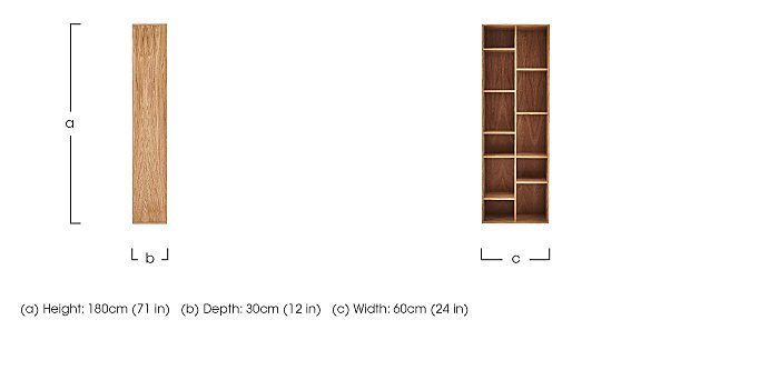 Stack Tall Bookcase in  on Furniture Village