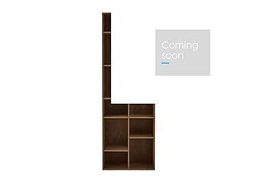 Stack Tall Bookcase in Dark Oak on Furniture Village