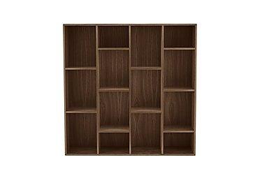 Stack Wide Bookcase in Dark Oak on Furniture Village