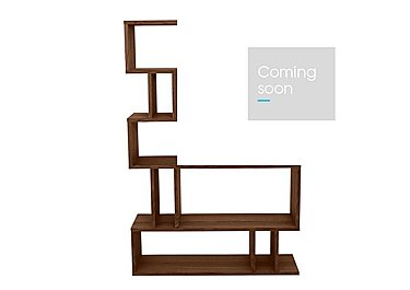 Elmari Tall Shelving in Dark Finish on Furniture Village