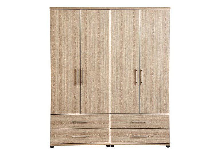 Amari 4 Door Gents Wardrobe in Kkv - King Oak on Furniture Village