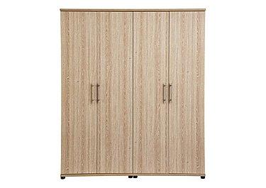 Amari 4 Door Wardrobe in Kkv - King Oak on Furniture Village