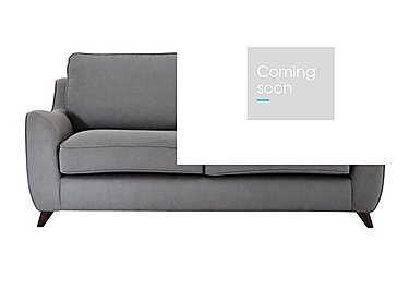 Carrara 3 Seater Fabric Sofa in Cosmo Pewter Dark Feet on Furniture Village