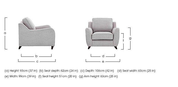 Carrara Fabric Armchair in  on Furniture Village