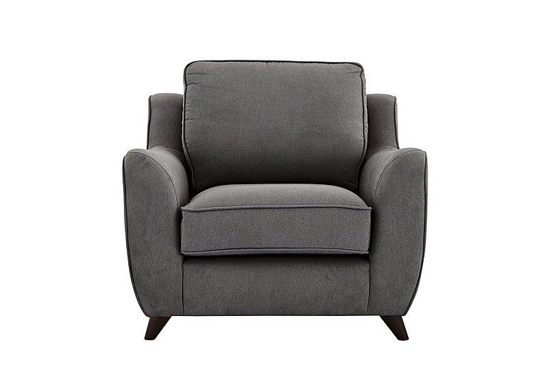 Carrara Fabric Armchair in Cosmo Pewter Dark Feet on Furniture Village