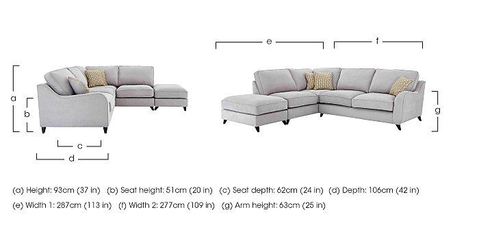 Carrara Fabric Corner Chaise Sofa in  on Furniture Village