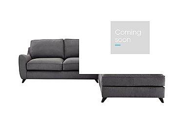 Carrara Fabric Corner Chaise Sofa in Cosmo Pewter Dark Feet on Furniture Village