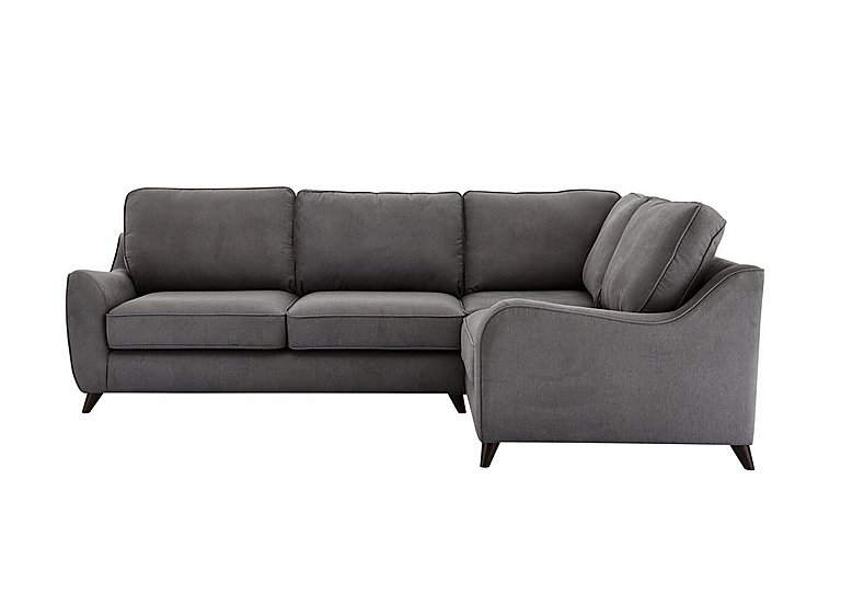 Carrara Fabric Corner Sofa in Cosmo Pewter Dark Feet on Furniture Village