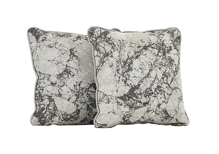 Carrara Pair of Scatter Cushions in Marble Mist on Furniture Village