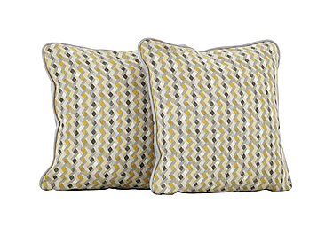 Carrara Pair of Scatter Cushions in Missi Lemon on Furniture Village