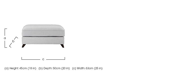 Carrara Fabric Footstool in  on Furniture Village