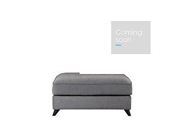 Carrara Fabric Footstool in Cosmo Pewter Dark Feet on Furniture Village