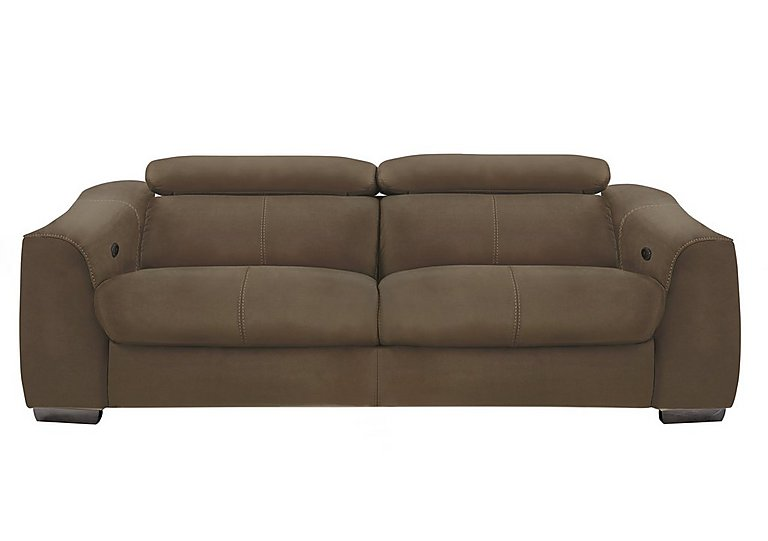 Elixir 3 Seater Fabric Recliner Sofa in Bfa-Blj-R04 Tobacco on Furniture Village