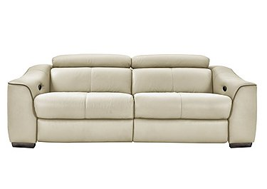 Elixir 3 Seater Leather Recliner Sofa in Bv3550 Light Beige See Comment on Furniture Village