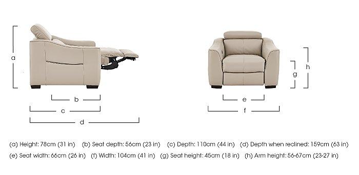 Elixir Leather Recliner Armchair in  on Furniture Village