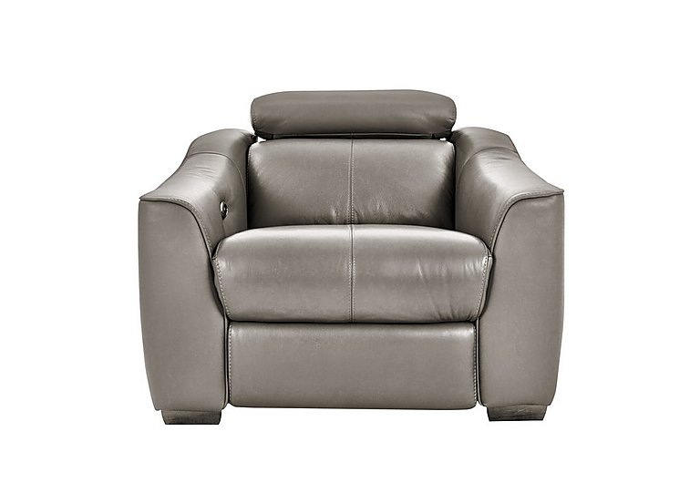 Elixir Leather Recliner Armchair in Bv042 Elephant See Comms on Furniture Village