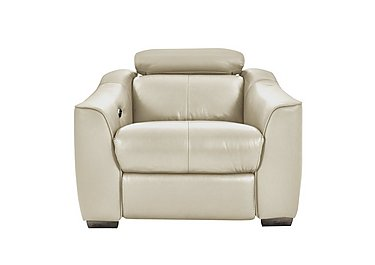 Elixir Leather Recliner Armchair in Bv3550 Light Beige See Comment on Furniture Village