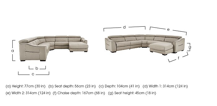 Elixir Leather Recliner Corner Sofa in  on Furniture Village