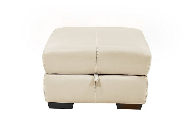 Elixir Leather Storage Footstool in Bv3550 Light Beige See Comment on Furniture Village