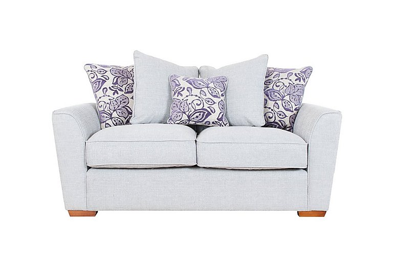 Fable 2 Seater Fabric Pillow Back Sofa in Barlery Silver Cyprus Purp Lht on Furniture Village