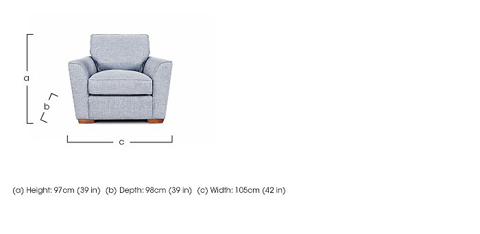 Fable Fabric Armchair in  on Furniture Village