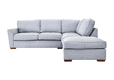 Fable Fabric Corner Sofa in Barley Silver All Over Lht Ft on Furniture Village