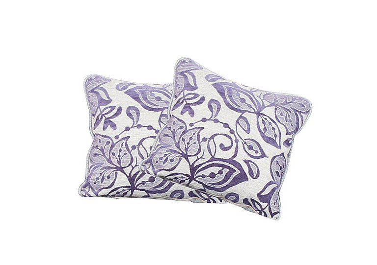 Fable Pair of Scatter Cushions in Cyprus Purple on Furniture Village