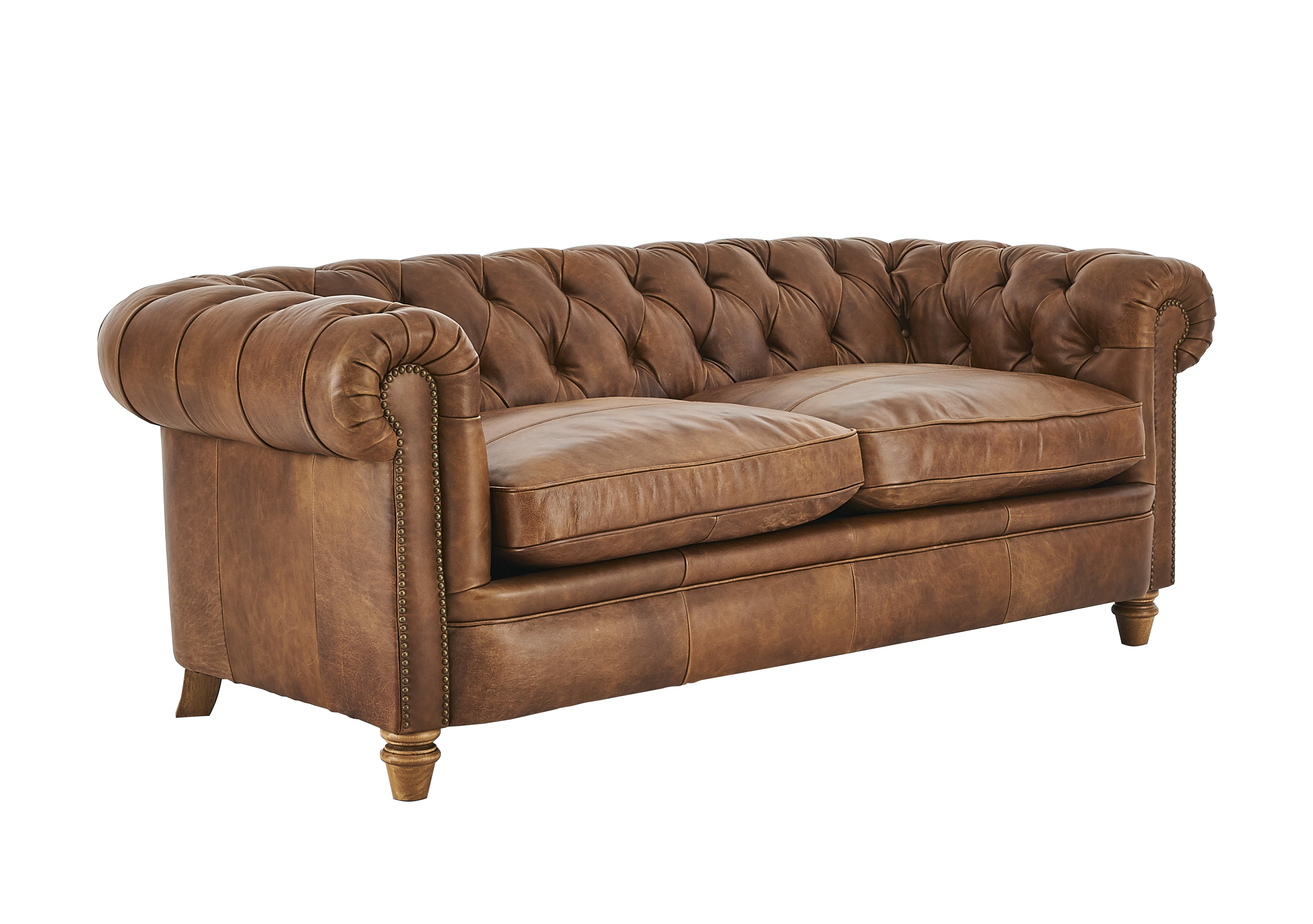 New England Newport 3 Seater Leather Sofa   Alexander And James   Furniture  Village