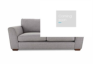 High Street Oxford Street 3 Seater Fabric Sofa Bed in Salta  Ash on Furniture Village