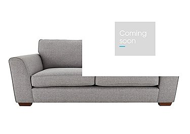 High Steet Oxford Street 4 Seater Fabric Sofa in Salta  Ash on Furniture Village