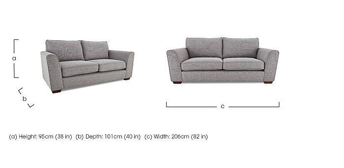 High Street Oxford Street 3 Seater Fabric Sofa in  on Furniture Village