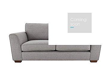 High Street Oxford Street 3 Seater Fabric Sofa in Salta  Ash on Furniture Village