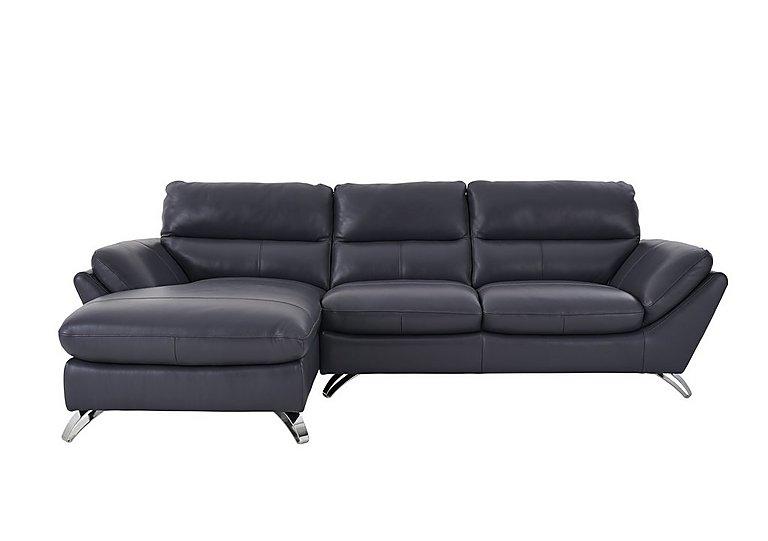 Salvador Leather Corner Chaise Sofa