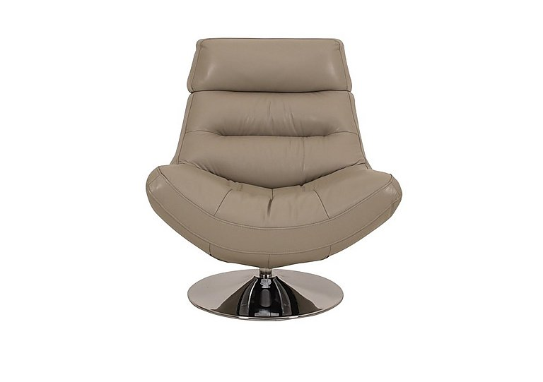 Salvador Leather Swivel Armchair in 60/23 Lead Grey on Furniture Village