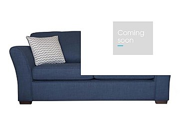 Twilight 2 Seater Fabric Sofa Bed in Lily Navy - Dark Feet on Furniture Village