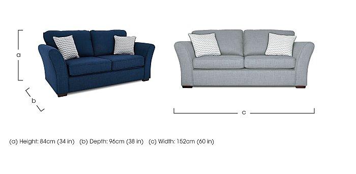 Twilight Small 2 Seater Fabric Sofa in  on Furniture Village