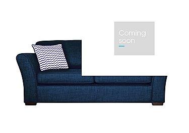 Twilight Small 2 Seater Fabric Sofa in Lily Navy - Dark Feet on Furniture Village