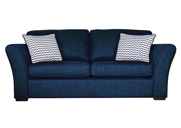 Twilight 3 Seater Fabric Sofa in Lily Navy - Dark Feet on Furniture Village