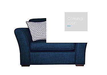 Twilight Fabric Armchair in Lily Navy - Dark Feet on Furniture Village