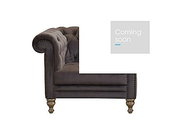 New England Yale Fabric Armchair in Cabin Velvet Discov - W/Oak Ft on Furniture Village
