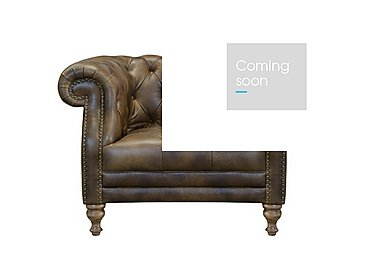 New England Yale Leather Armchair in Cal Original - W/Oak Feet on Furniture Village
