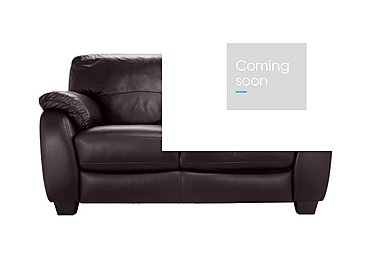 Moods 2 Seater Leather Sofa Bed in An-920d Teak on Furniture Village