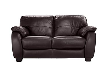 Moods 2 Seater Leather Sofa in An-920d Teak on Furniture Village