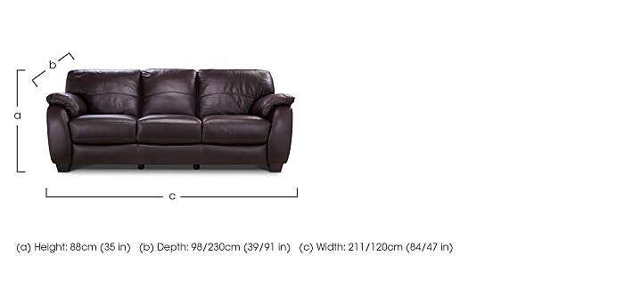 Moods 3 Seater Leather Sofa Bed in  on Furniture Village