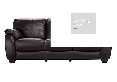 Moods 3 Seater Leather Sofa Bed in An-920d Teak on Furniture Village