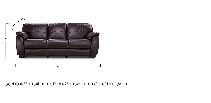 Moods 3 Seater Leather Sofa in  on Furniture Village