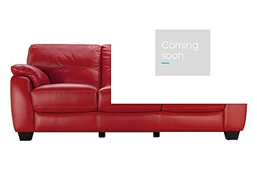 Moods 3 Seater Leather Sofa in An-945b Scarlet on Furniture Village