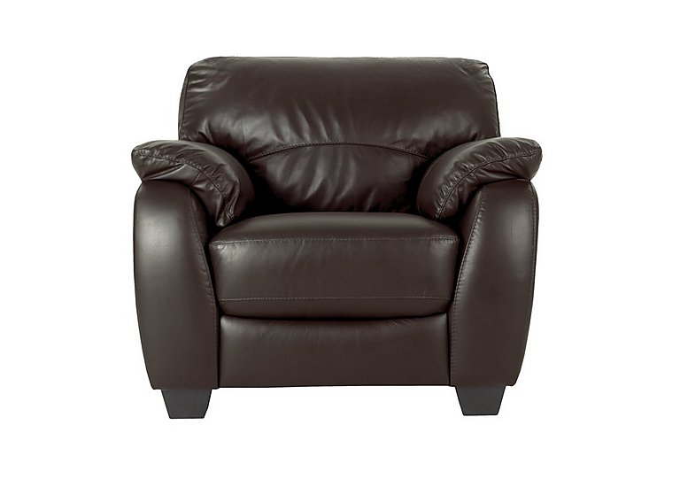 Moods Leather Recliner Armchair in An-920d Teak on Furniture Village