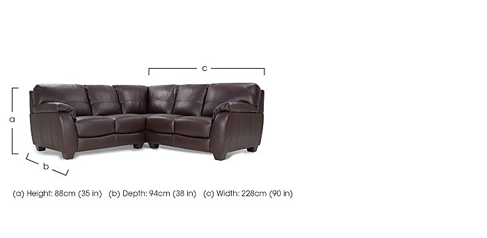 Moods Leather Corner Sofa in  on Furniture Village