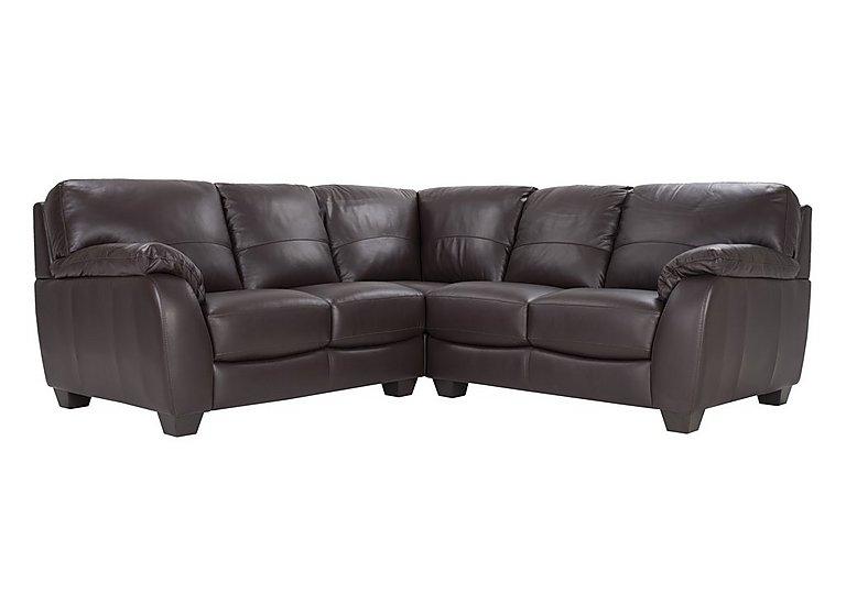 Moods Leather Corner Sofa in An-920d Teak on Furniture Village